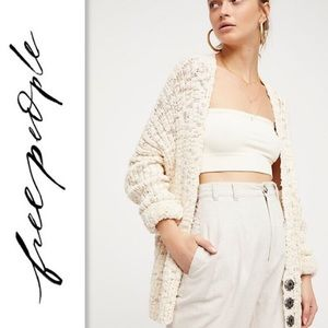Free People Fun Times Chunky Knit Cardigan